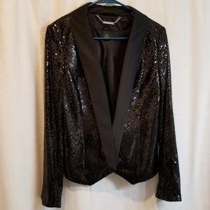 WHBM Sequined black jacket
